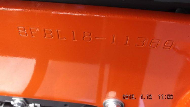 トヨタ TOYOTA 中古フォークリフト forklift バッテリーカウンター 2017年式 3段フルフリー4.3Mマストサイドシフト