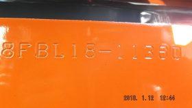 トヨタ TOYOTA 中古フォークリフト forklift バッテリーカウンター 2017年式 3段フルフリー4.3Mマスト サイドシフト