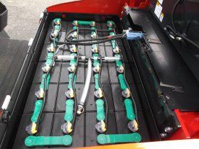 ニチユ NCHIYU 中古フォークリフト forklift バッテリーカウンター 3段フルフリー5Mマスト サイドシフト