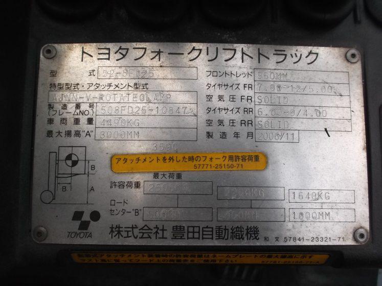トヨタ TOYOTA 中古フォークリフト forklift 全回転 ベールクランプ