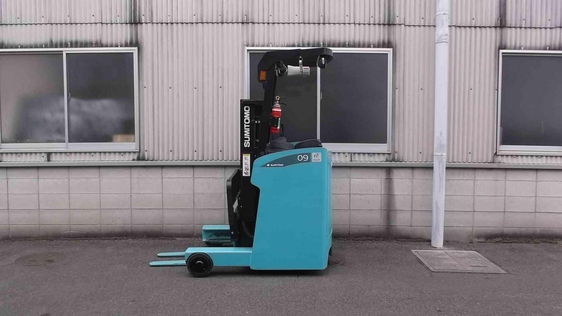 フジ自動車 スミトモ 61FBR09SXⅡ バッテリーリーチ フォークリフト reach forklift used sumitomo yuasabattery