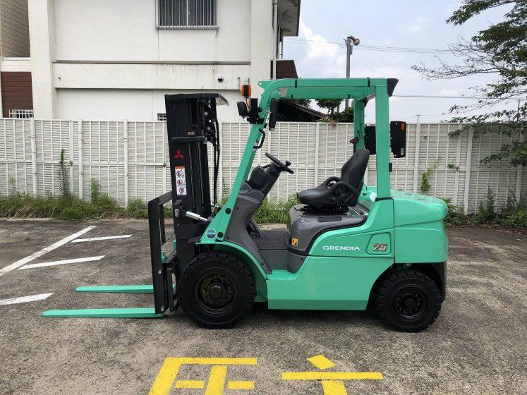 三菱 MITSUBISHI 中古フォークリフト forklift ディーゼル 2019年式 3段フルフリーマスト 4.3Mマスト